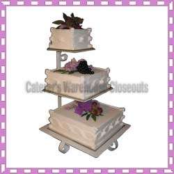 TIER SQUARE CAKE STAND WEDDING CAKE STAND, 23 H. NEW