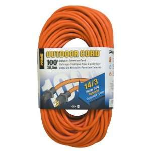EC501735 100 Foot 14/3 SJTW Heavy Duty Outdoor Extension Cord, Orange