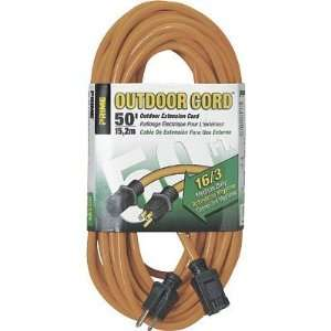 50 Foot 16/3 SJTW Medium Duty Extension Cord, Orange