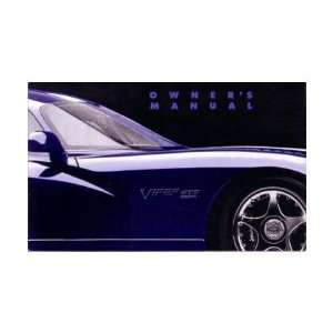 1996 DODGE VIPER GTS COUPE Owners Manual User Guide