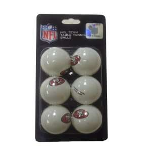 NFL San Francisco 49ers Franklin Table Tennis Balls 6 pack