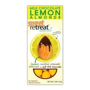 Sweet Retreat Naturals Roasted Almonds with Milk Chocolate, Lemon, 5