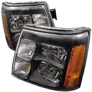 02 04 CADILLAC ESCALADE HEADLIGHTS JDM BLACK Automotive