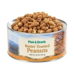 Plow and Hearth Fresh Butter Toasted Gourmet Virginia Peanuts   20 oz
