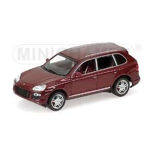 PORSCHE CAYENNE TURBO 2006 in RED METALLIC Diecast Model