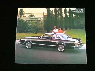 1977 Ford LTD II Brougham Squire Wagon Car Brochure
