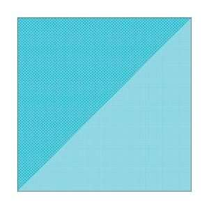 Double Sided Cardstock 12X12 Dot/Grid Swimming Pool; 25 Items/Order