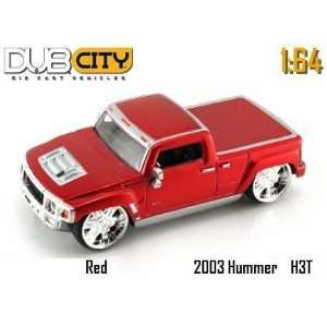 Jada Dub City Kustoms Candy Red Hummer H3T Concept 164
