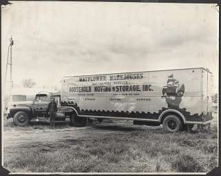 Photo 1948 1950 Ford Mayflower Moving Semi Truck 425293