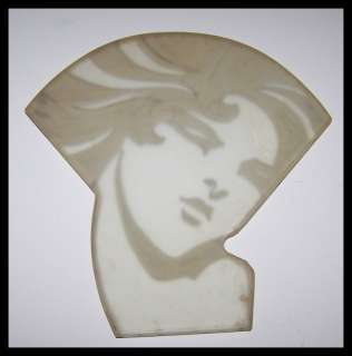 EXTREMELY RARE ART DECO FRANKART LAMP WOMANS FACE SILVER OVERLAY