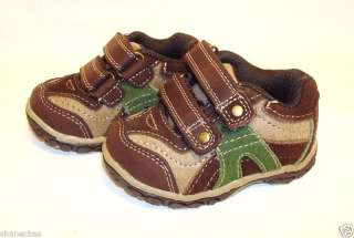 Genuine Kids Oshkosh Infant Toddler Boy Suede Leather Shoes Sz 3 NEW