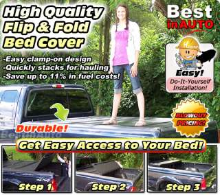 Flip Bak Fold Back Tonneau Cover Folding Bed Lid 74