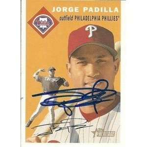 Jorge Padilla Signed Phillies 2003 Topps Heritage Card