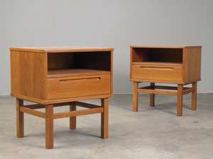 Danish Modern Teak Nightstands End Tables Mid Century