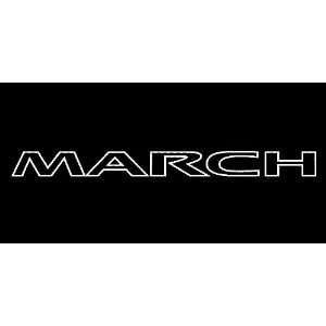 Nissan March Outline Windshield Vinyl Banner Decal 36 x 3