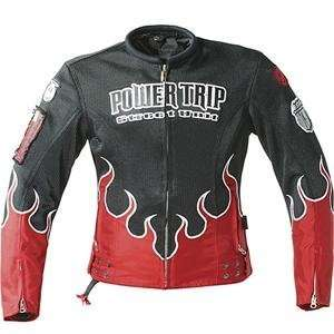 Power Trip Womens Stiletto Mesh Jacket   X Small/Red