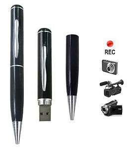 USB Flash Drive upto 64GB + Hidden Camera Pen