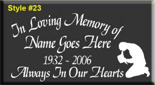 10 PACK~ IN LOVING MEMORY OF VINYL DECAL STICKER RIP *