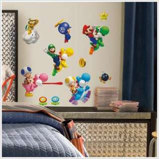 SUPER MARIO BROTHERS Wii WALL DECALS Room Decoration Stickers Decor
