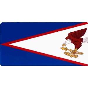 AMERICAN SAMOA FLAG License Plate 924 Patio, Lawn