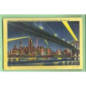 Postcard Lower Manhattan at Ni New York City Skyline