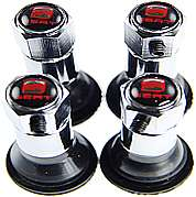 4X Anti Theft Locking Seat Logo Tyre Valve Dust Caps And 4X Valve Stem