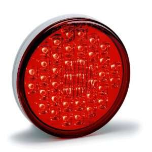 1002 LED Lamp Light   4 Round Tail / Brake Light Red (ea) Automotive