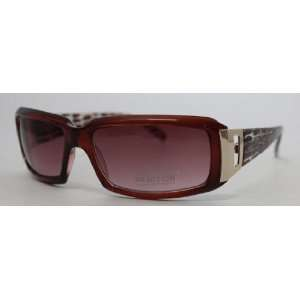 Kenneth Cole Reaction Sunglass Wine Rectangle Fashion Plastic, Brown