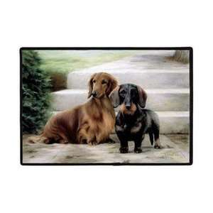 Fiddlers Elbow Long Hair Dachshunds Porch Doormat Patio
