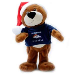 DENVER BRONCOS MUSICAL DANCING CHRISTMAS TEDDY BEAR TOY