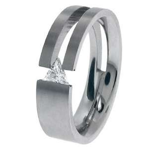 Jewelry Rings 316L Stainless Steel Tension Set, Big and Tall   Size 13
