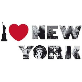 I LOVE NY heart New York bumper sticker decal 6 x 2