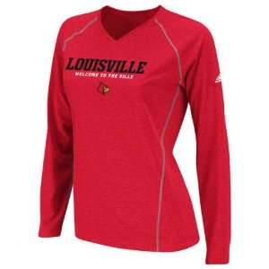 Louisville Cardinals Womens Red adidas 2012 Football Sideline Graphic