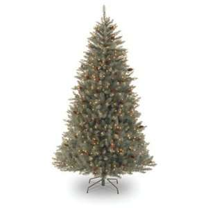 Hinged Christmas Tree with Cones; 750 Clear Lights UL