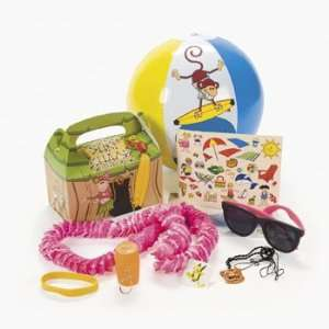 Tropical Hut Filled Treat Boxes   Party Favor & Goody Bags