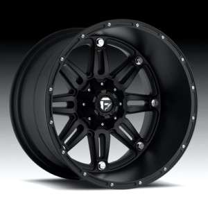 20 x 14 Fuel Hostage Black D531 5 6 8 Lug Wheels Rims