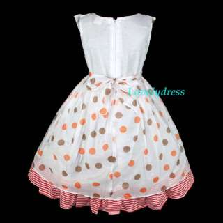 NEW Spring Summer Girls Flowers Dress Clothing Outfit Children Wears
