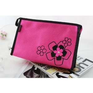 New Adorable Daisy Love Hot Pink Cosmetic Bag Beauty