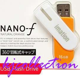 Imation 16GB 16G USB Flash Drive Pen Disk Orange Nano f
