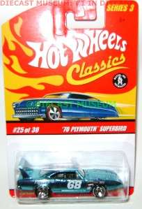 70 1970 PLYMOUTH SUPERBIRD HOT WHEELS CLASSICS SERIES