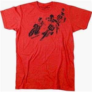 Troy Lee Designs Real Deal Slim Fit T Shirt   2X Large/Red Automotive