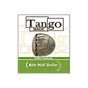 Bite Out Half Dollar   Tango   Money Street Magic Toys