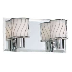 Dainolite V010 2W PC 2 Light Vanity with Frosted Glass