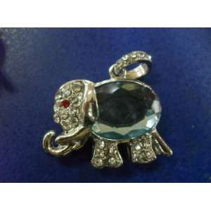 8GB Lovely Blue Crystal Elephant Style USB Flash Drive Electronics