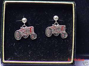 IH International Harvester tractor earrings, NIB