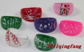 20PCS NEW Wholesale jewelry Mix lot 100X Resin Lucite kids Rings free
