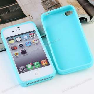 Sweet Jasmine Aroma Silicone Baby Blue Skin Cover Case Bumper For