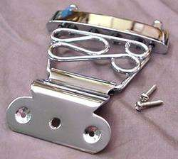 SHORT FANCY CHROME BASS GUITAR TAILPIECE ARCHTOP
