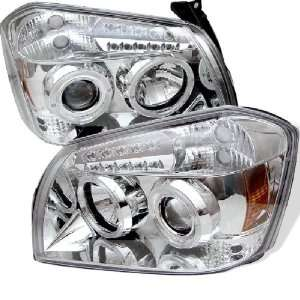 Dodge Magnum 05 08 Halo LED Projector Headlights Chrome w/ FREE SUPER