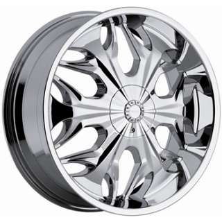 22x8.5 Chrome Wheel Akuza Reaper 5x115 5x120